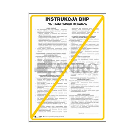 Instrukcja BHP na stanowisku dekarza