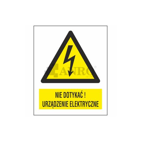 Nie dotykać! Urządzenie elektryczne 148x210