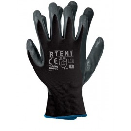 Rękawice ochronne powlekane RTENI szaro - czarne