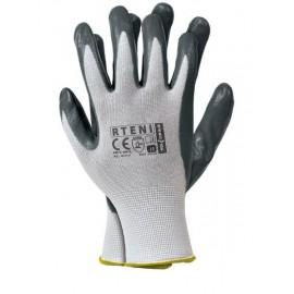 Rękawice ochronne powlekane RTENI biało - szare