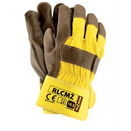 Rękawice ochronne wzmacniane skórą RLCMŻ