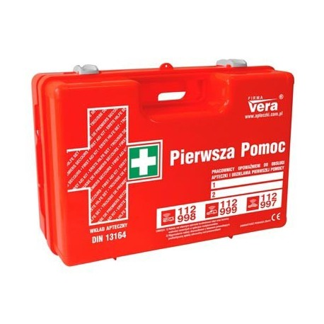 Przemysłowa apteczka pierwszej pomocy TOP 10 PLUS 13164 w walizce z tworzywa ABS