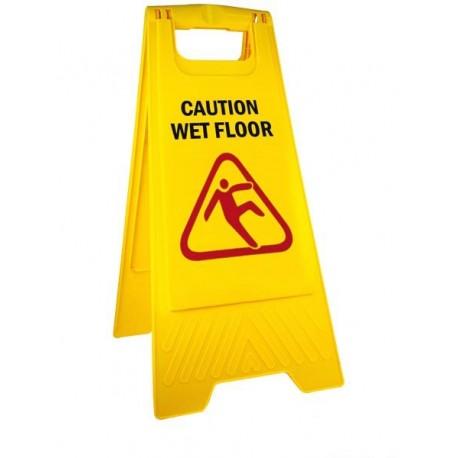 Stojak ze znakiem Wet Floor (Uwaga! mokra podłoga)