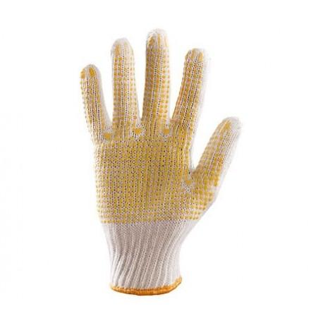 Rękawice ochronne dziane nakrapiane PCV jednostronnie