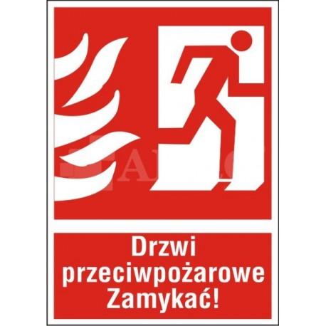 Drzwi przeciwpożarowe ZAMYKAĆ! prawe 150x205