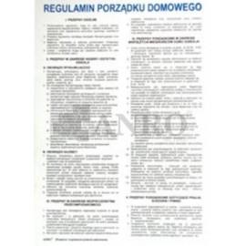 Regulamin porządku domowego