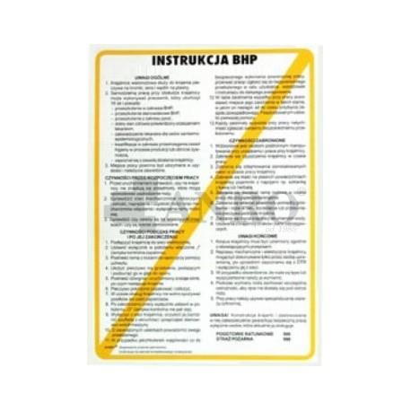 Instrukcja BHP przy obsłudze kopiarki kserograficznej