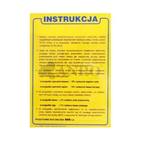 Instrukcja BHP dla obsługi akumulatorowni