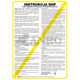 Instrukcja BHP przy ręcznych pracach transportowych