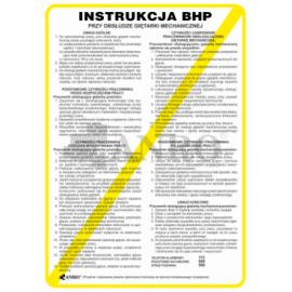 Instrukcja BHP przy obsłudze giętarki mechanicznej