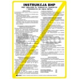 Instrukcja BHP przy obsłudze pił taśmowych, ramowych i tarczowych do cięcia metali
