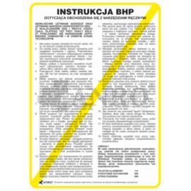 Instrukcja BHP dotycząca obchodzenia się z narzędziami ręcznymi