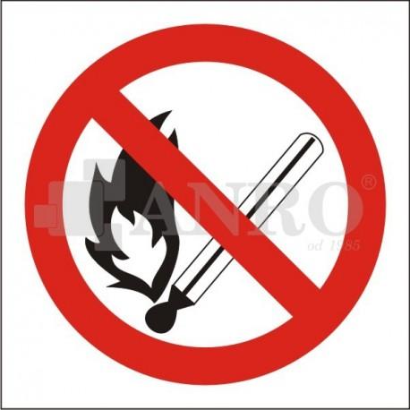 Zakaz używania otwartego ognia 150x150