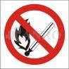Zakaz używania otwartego ognia 200x200
