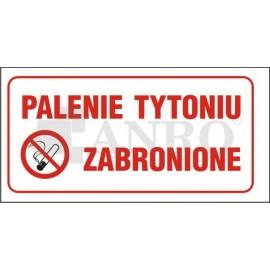 Palenie tytoniu zabronione 200x400