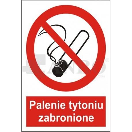 Palenie tytoniu zabronione 150x205