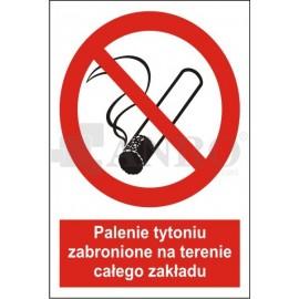 Palenie tytoniu zabronione na terenie całego zakładu 200x300