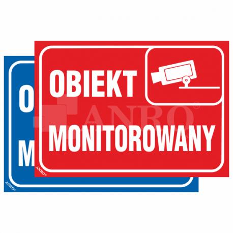 Obiekt monitorowany czerwony 150x210