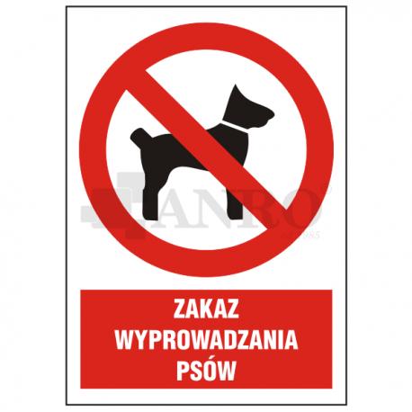 Zakaz wprowadzania psów 220x300