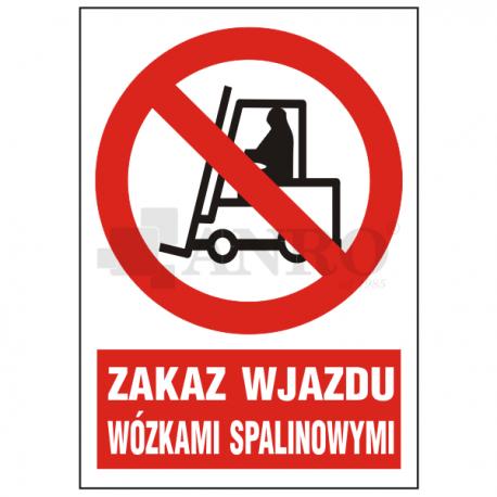 Zakaz wjazdu wózkami spalinowymi 220x300