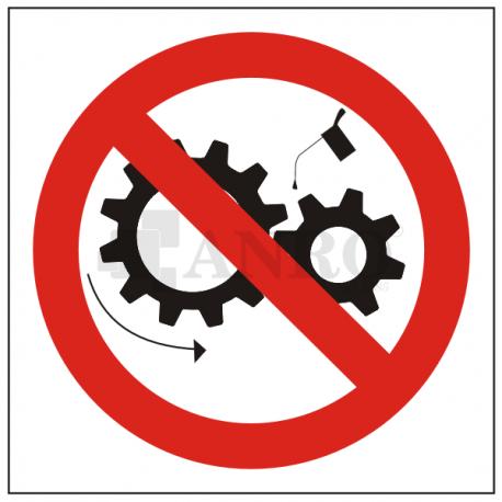 Zakaz smarowania urządzenia w ruchu 200x200