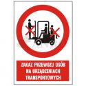 Zakaz przewozu osób na urządzeniach transportowych 220x300
