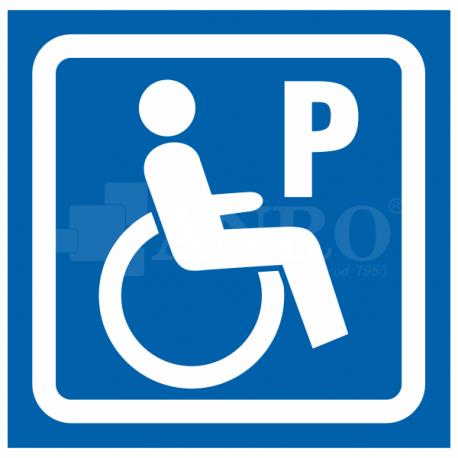 Oznaczenie parkingu dla niepełnosprawnych 150x150