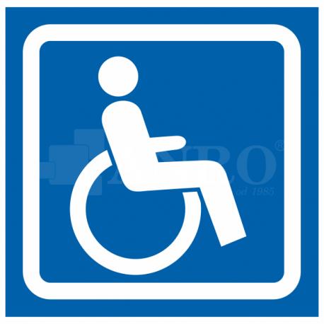 Oznaczenie dla niepełnosprawnych 100x100