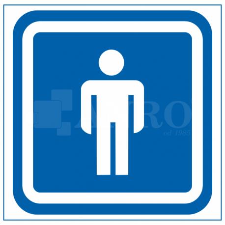 Oznaczenie WC męski 100x100