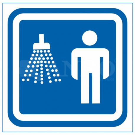Oznaczenie prysznic męski 100x100