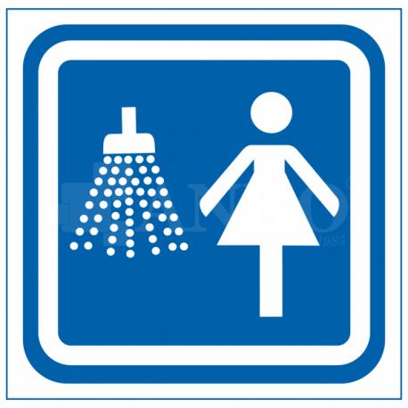Oznaczenie prysznic damski 100x100