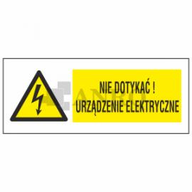 Nie dotykać! Urządzenie elektryczne 74x210