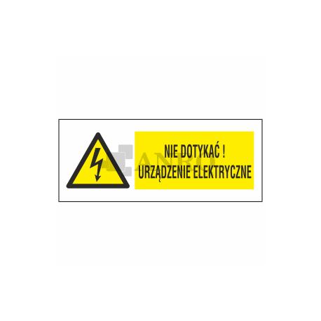 Uwaga urządzenie elektryczne 74x210